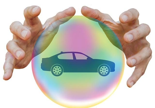 auto v bublině